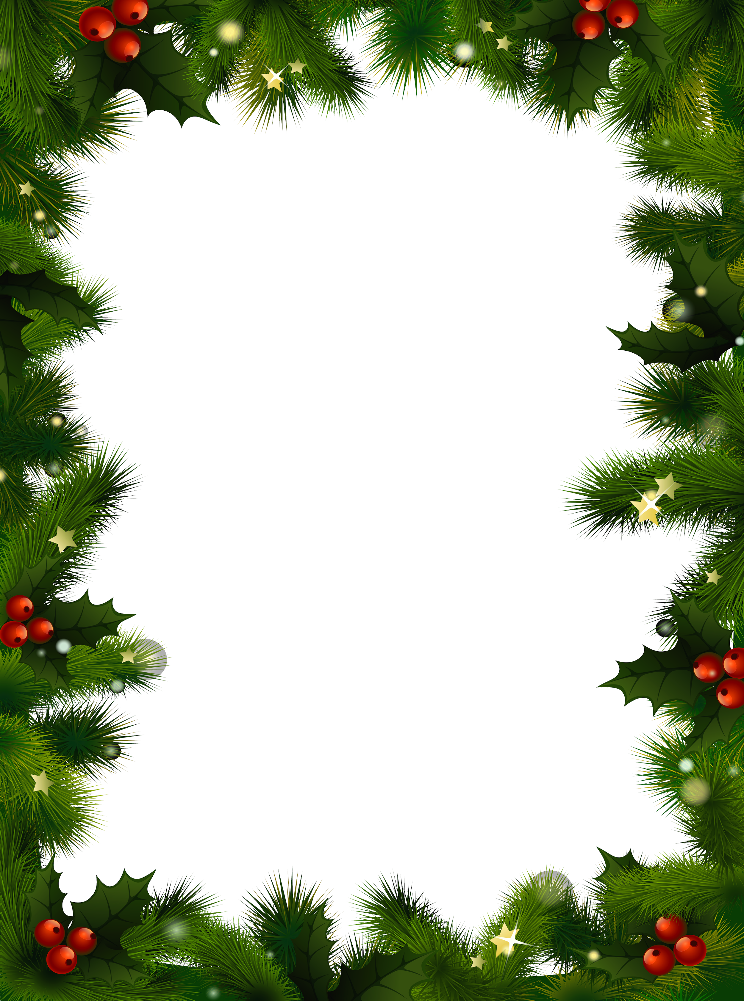 banner stock Mistletoe clipart frame. Transparent christmas photo with.