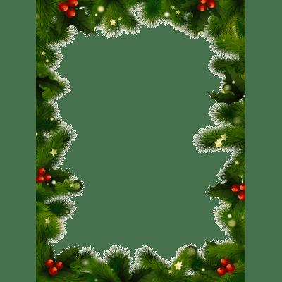 clipart transparent library Mistletoe clipart frame. Christmas photo transparent png.