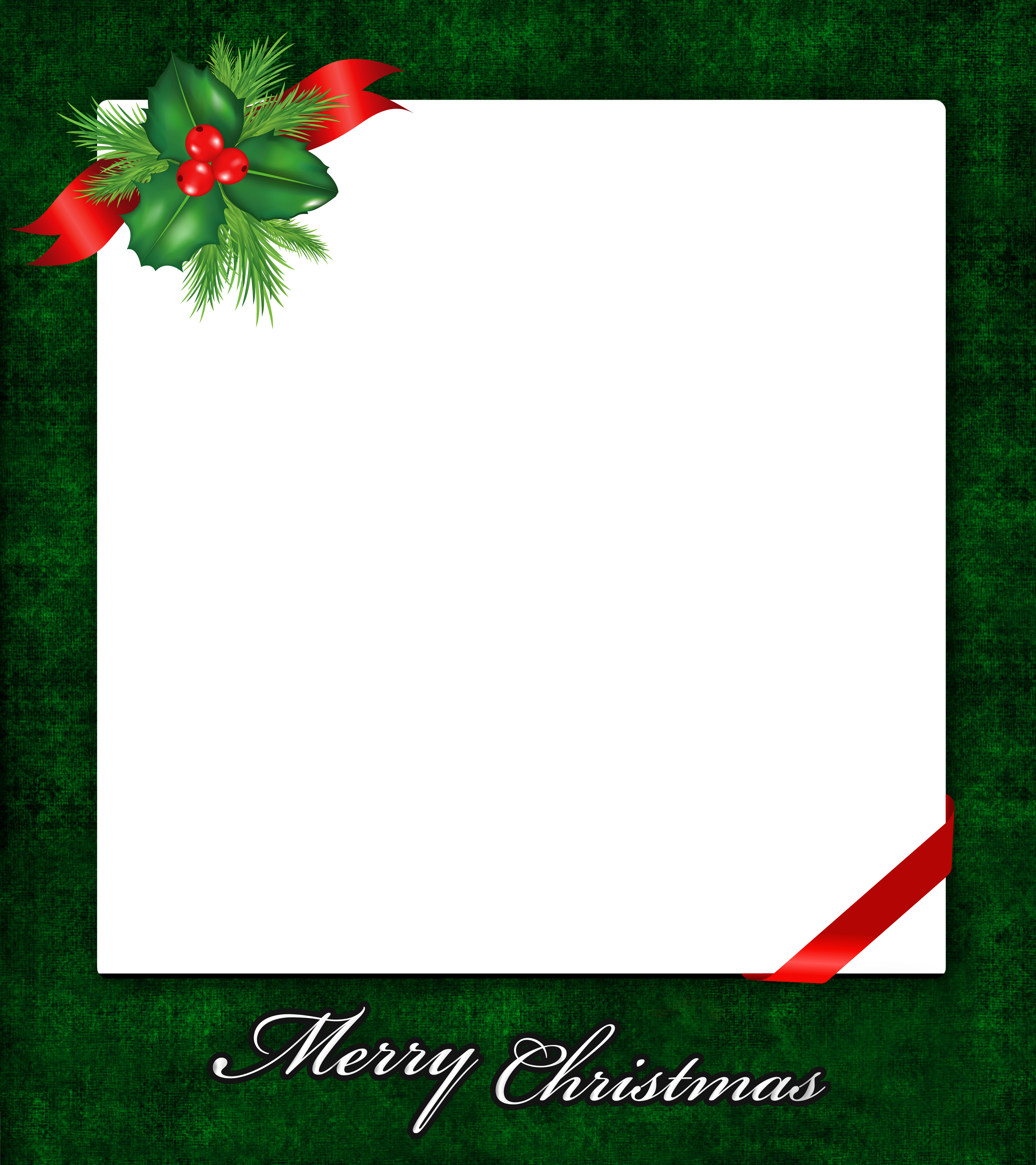 png free stock Christmas png with gallery. Mistletoe clipart frame.