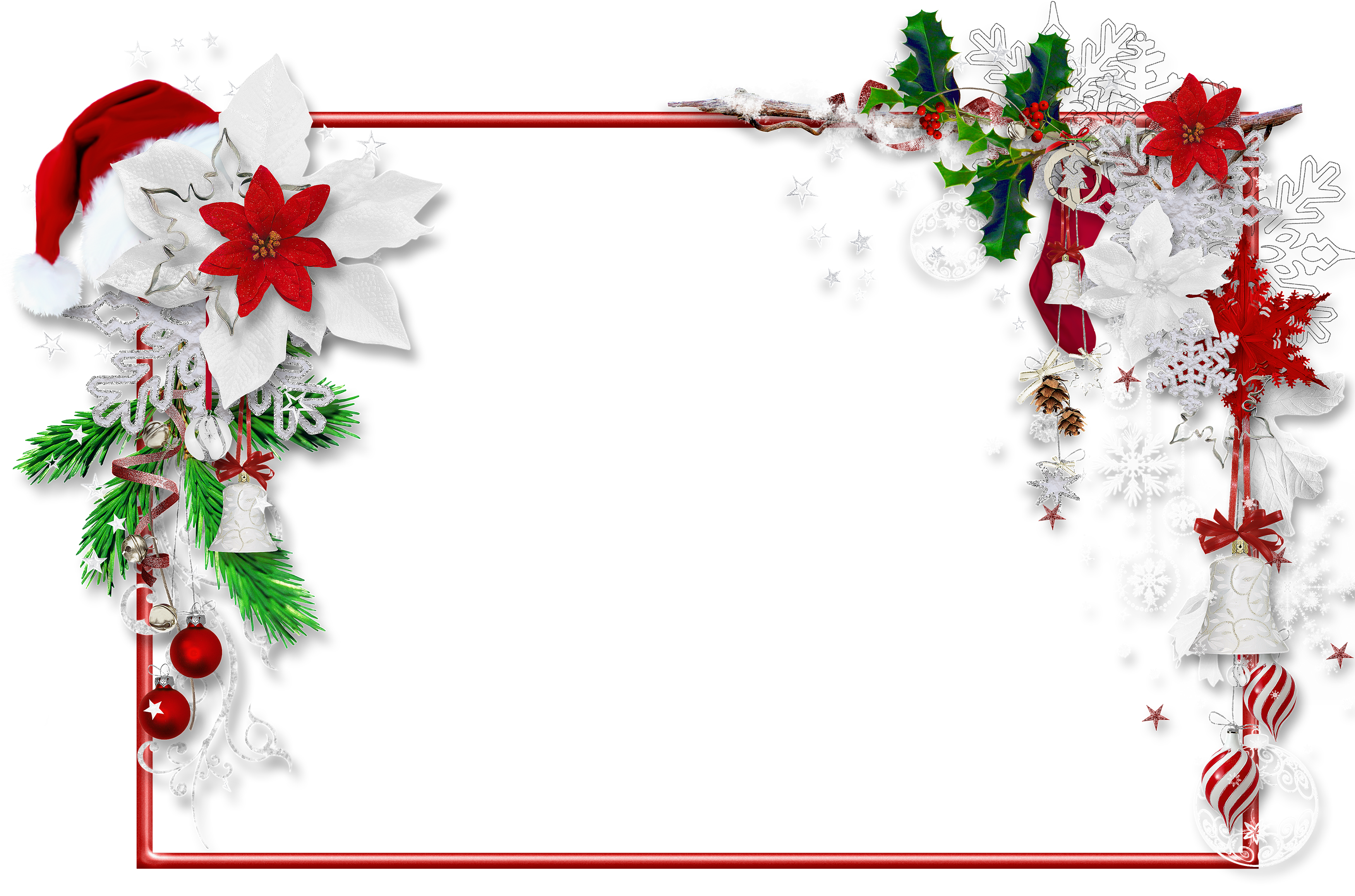 jpg transparent download Christmas png photo with. Mistletoe clipart frame.