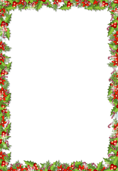 graphic free download Christmas PNG Frame with Mistletoes