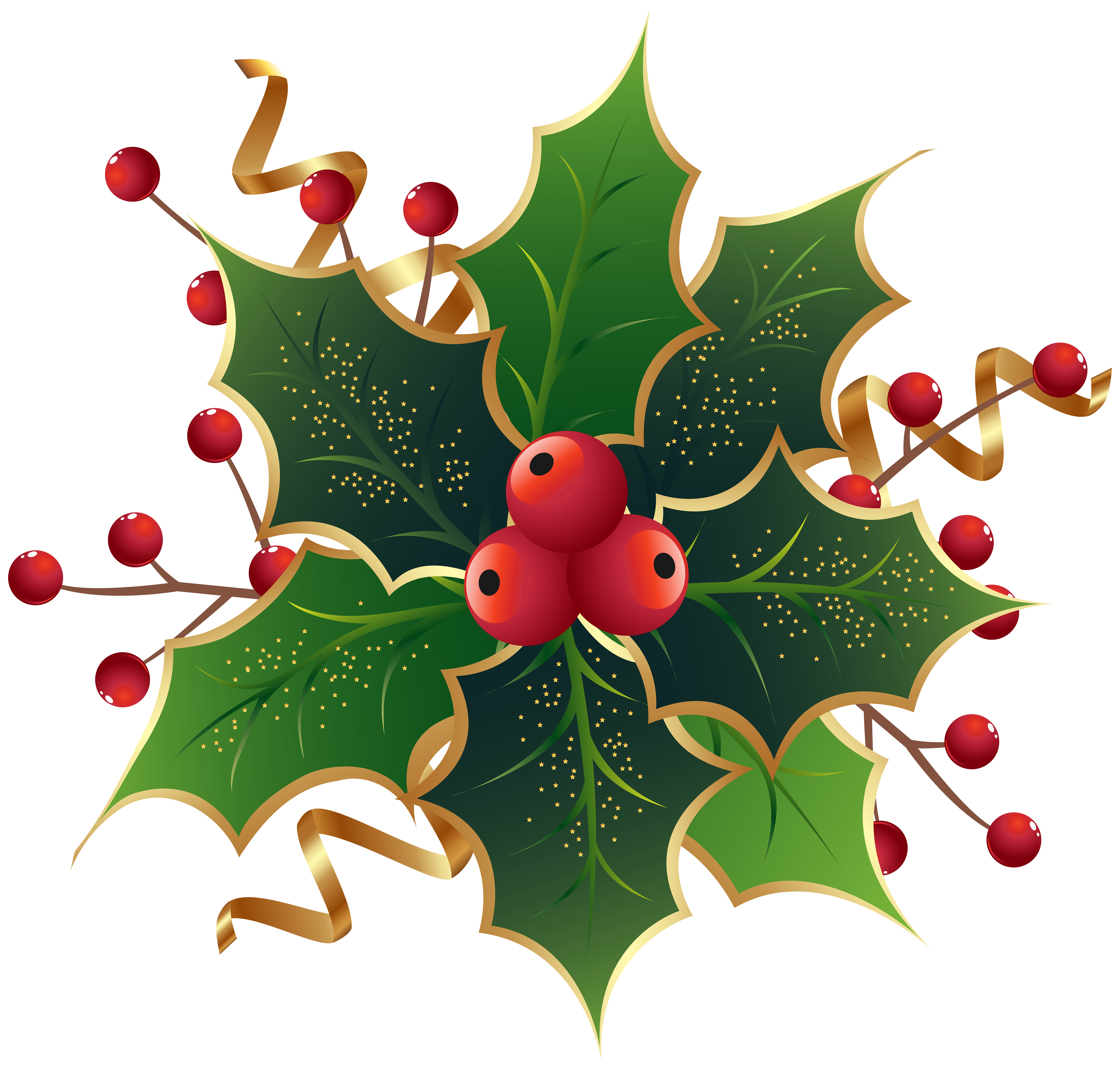 clip free download Mistletoe clipart holly sprig. Christmas png clip art.