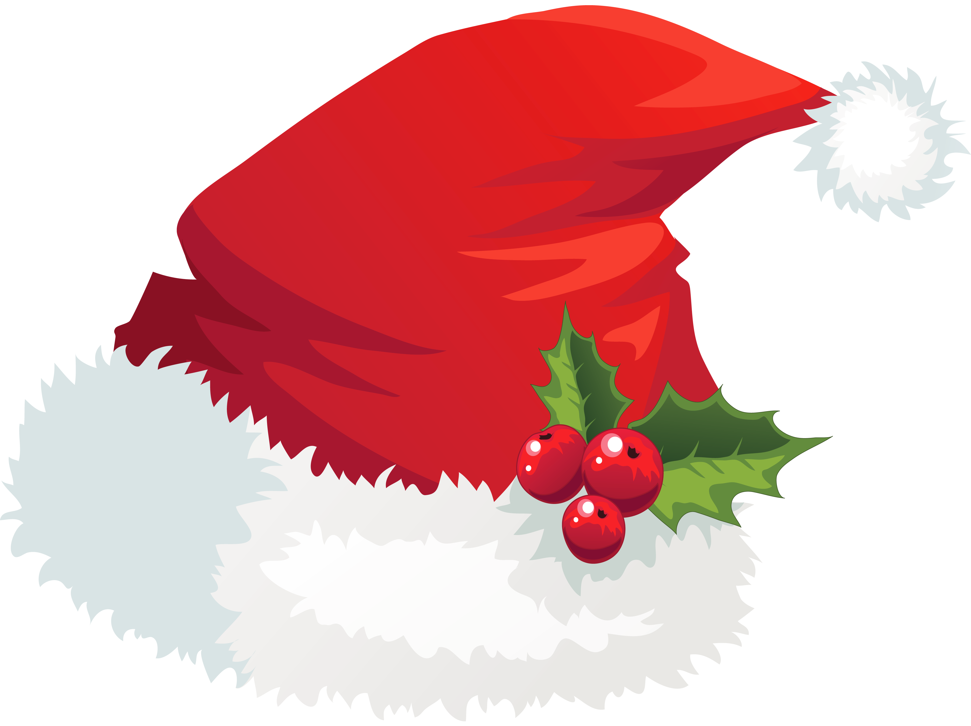 jpg black and white download Mistletoe clipart merry christmas. Transparent santa hat with.