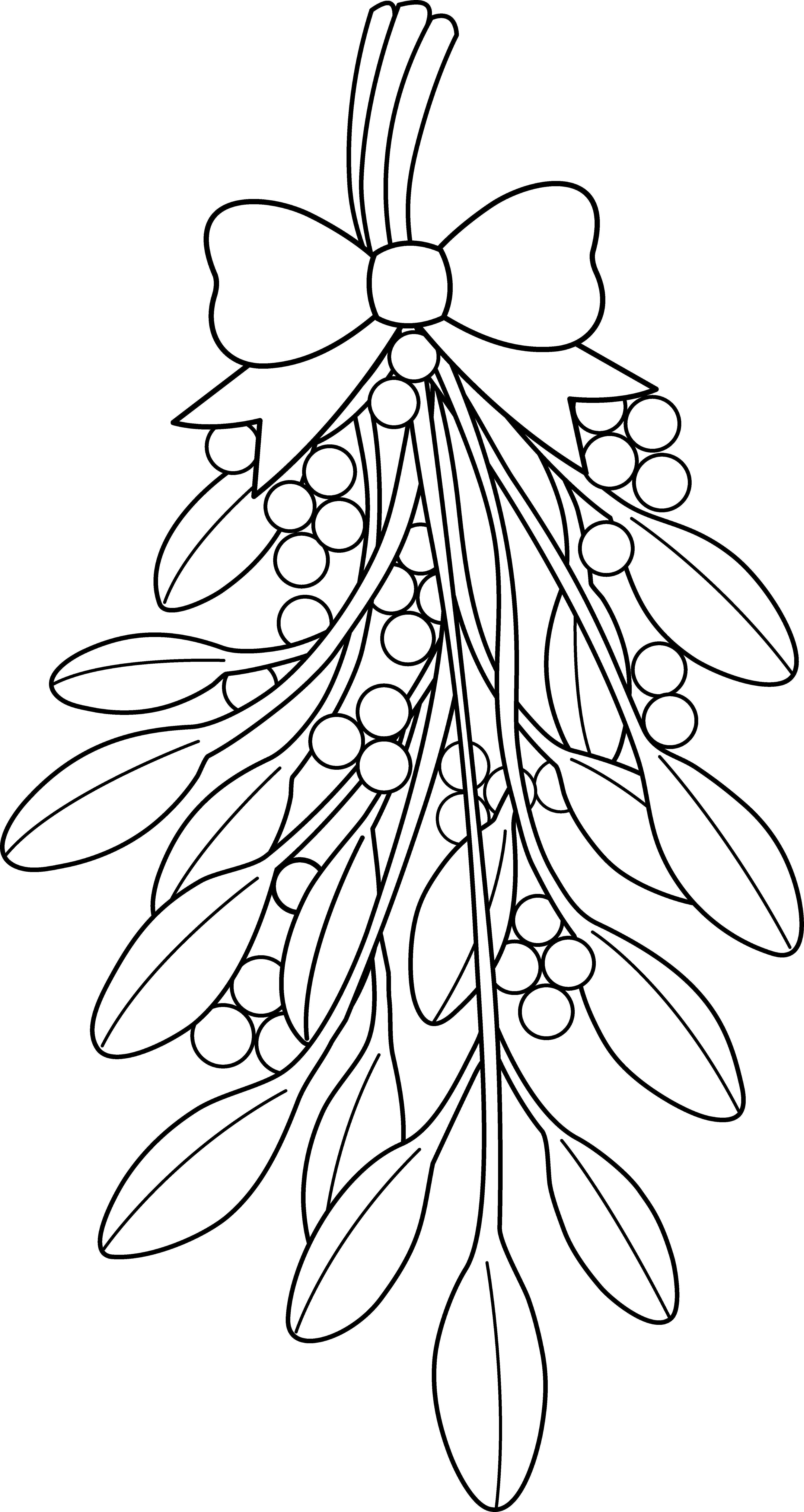 clip art free Poinsettia clipart black and white. Christmas coloring pages mistletoe
