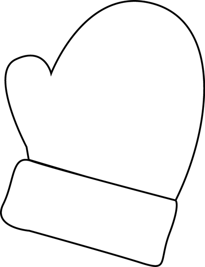 clipart library stock Clip art black and. Mittens clipart.