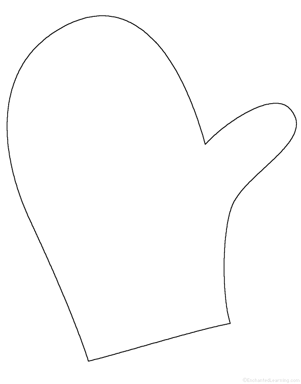 svg free library Mitten clipart drawing. Free outline download clip.