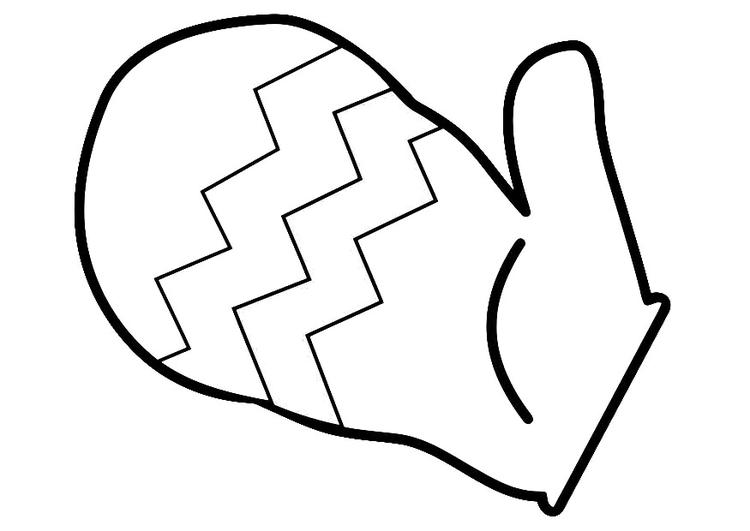 svg free library Free outline download clip. Mitten clipart drawing.