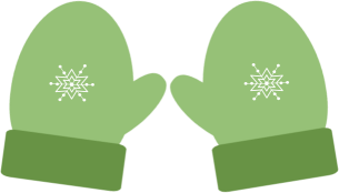 picture royalty free download Mitten clipart green. Christmas winter mittens clip.