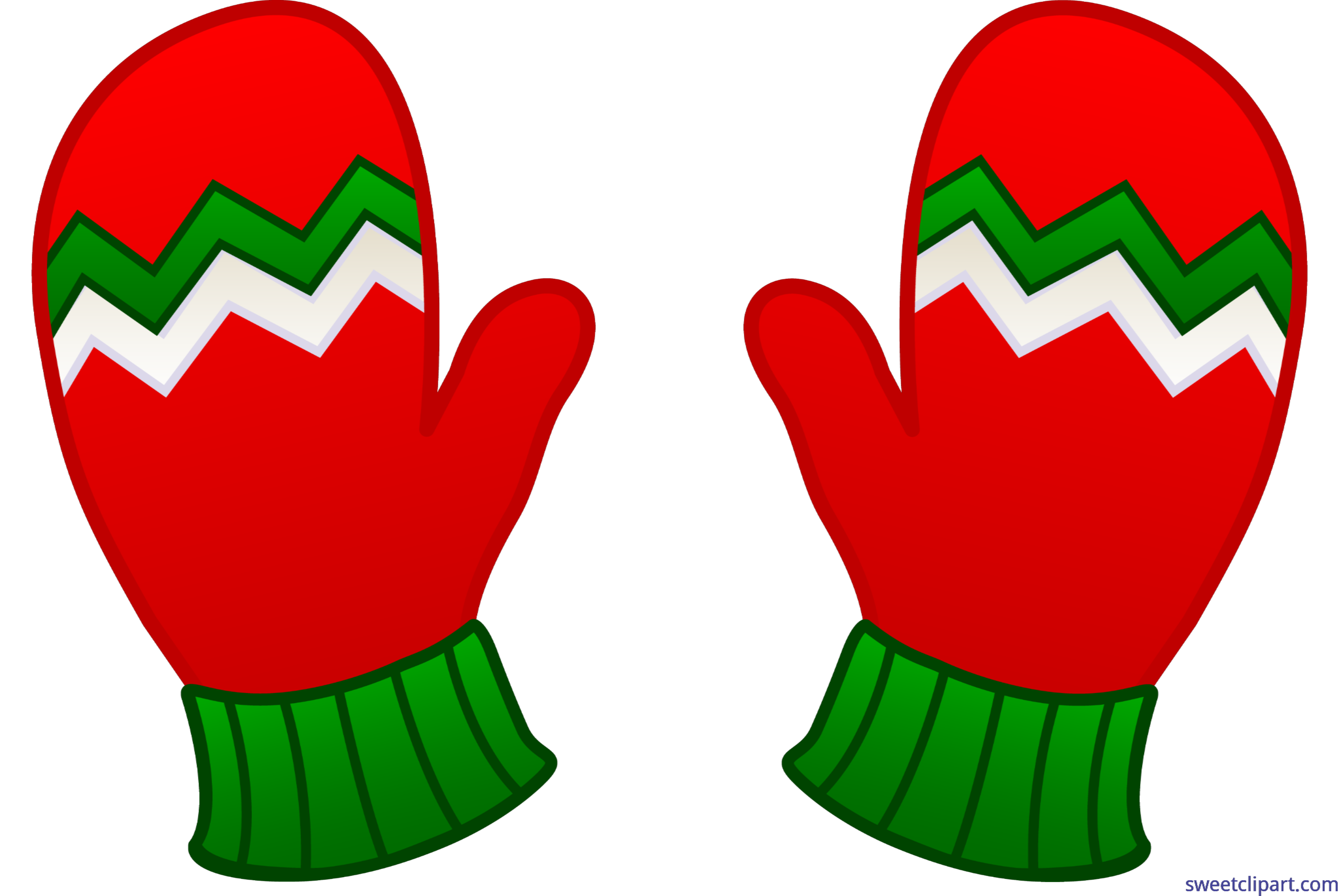 graphic royalty free library Mitten clipart green. Christmas mittens clip art.