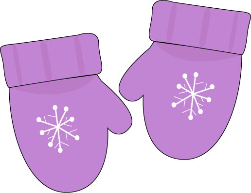 graphic black and white stock Mitten clipart items. Purple mittens printable magnets.