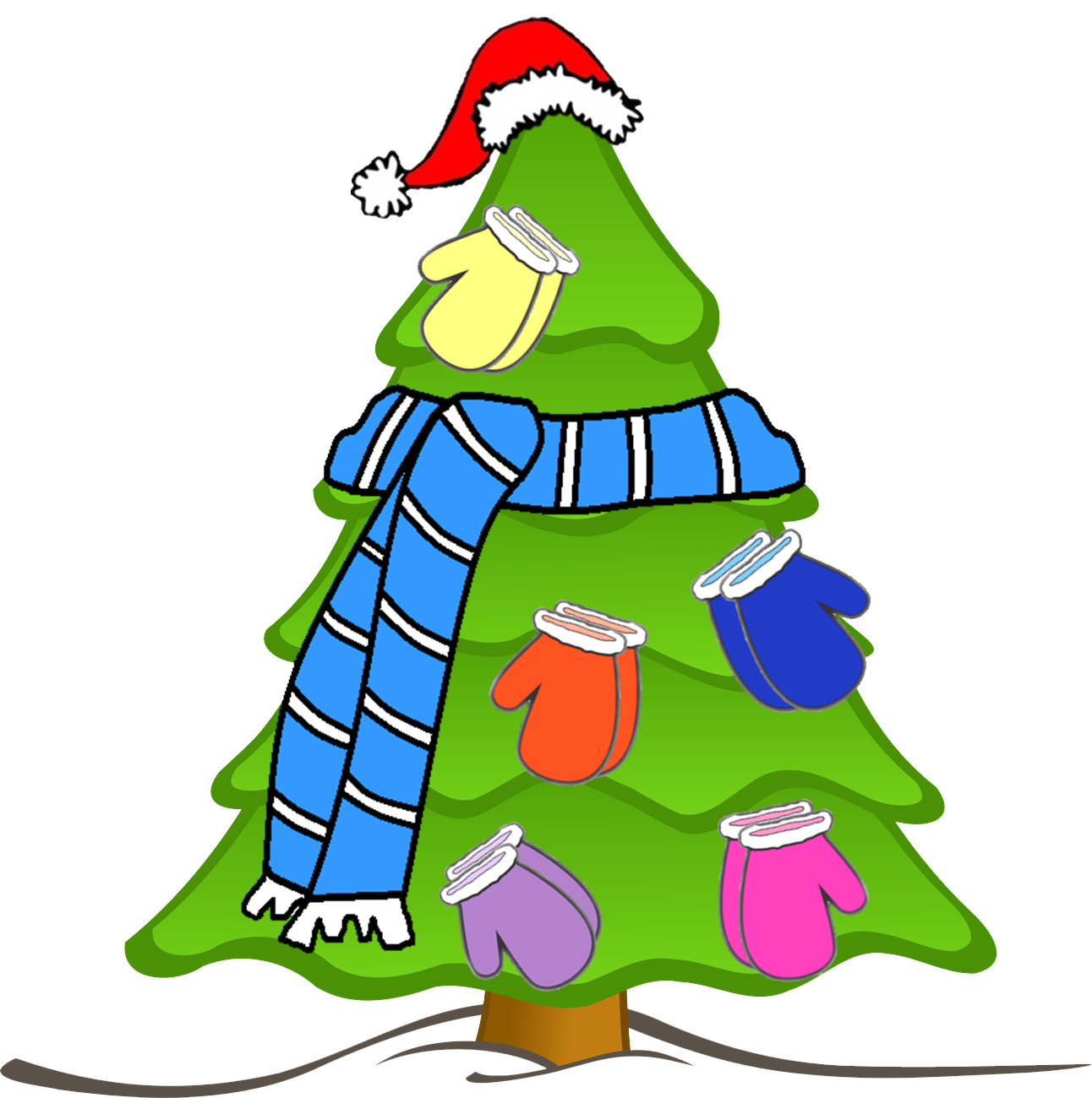 banner freeuse library Mittens clipart wear. Scarf mitten hat free.