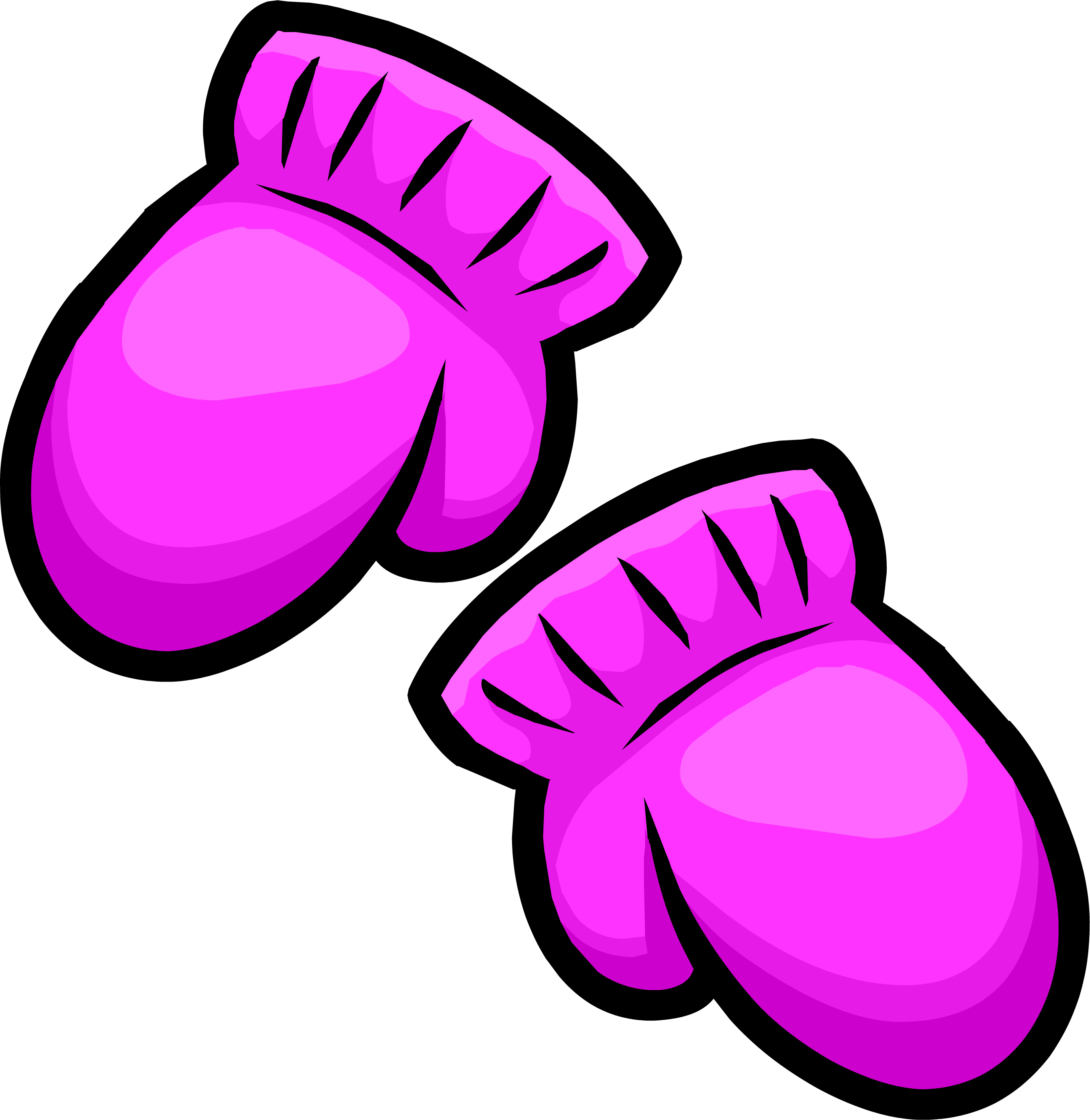 clip freeuse download Pink mittens club penguin. Mitten clipart items.
