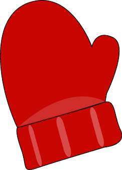 image transparent download Red single mitten printable. Mittens clipart large.