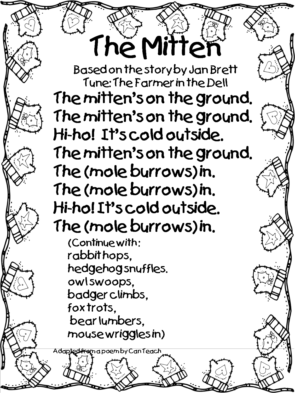 svg transparent stock So to accompany the. Mitten clipart preschool.