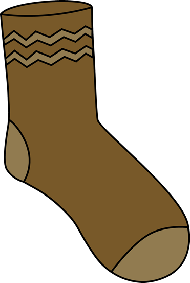 png royalty free library Mitten clipart sock. Brown pinterest socks and.
