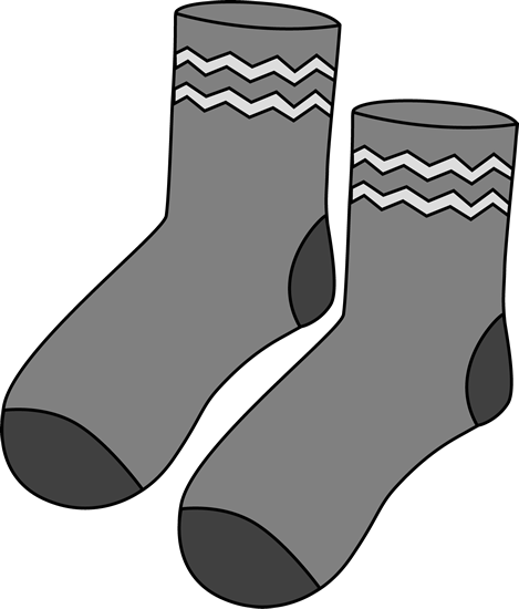 jpg freeuse stock Gray pair of socks. Mitten clipart sock.