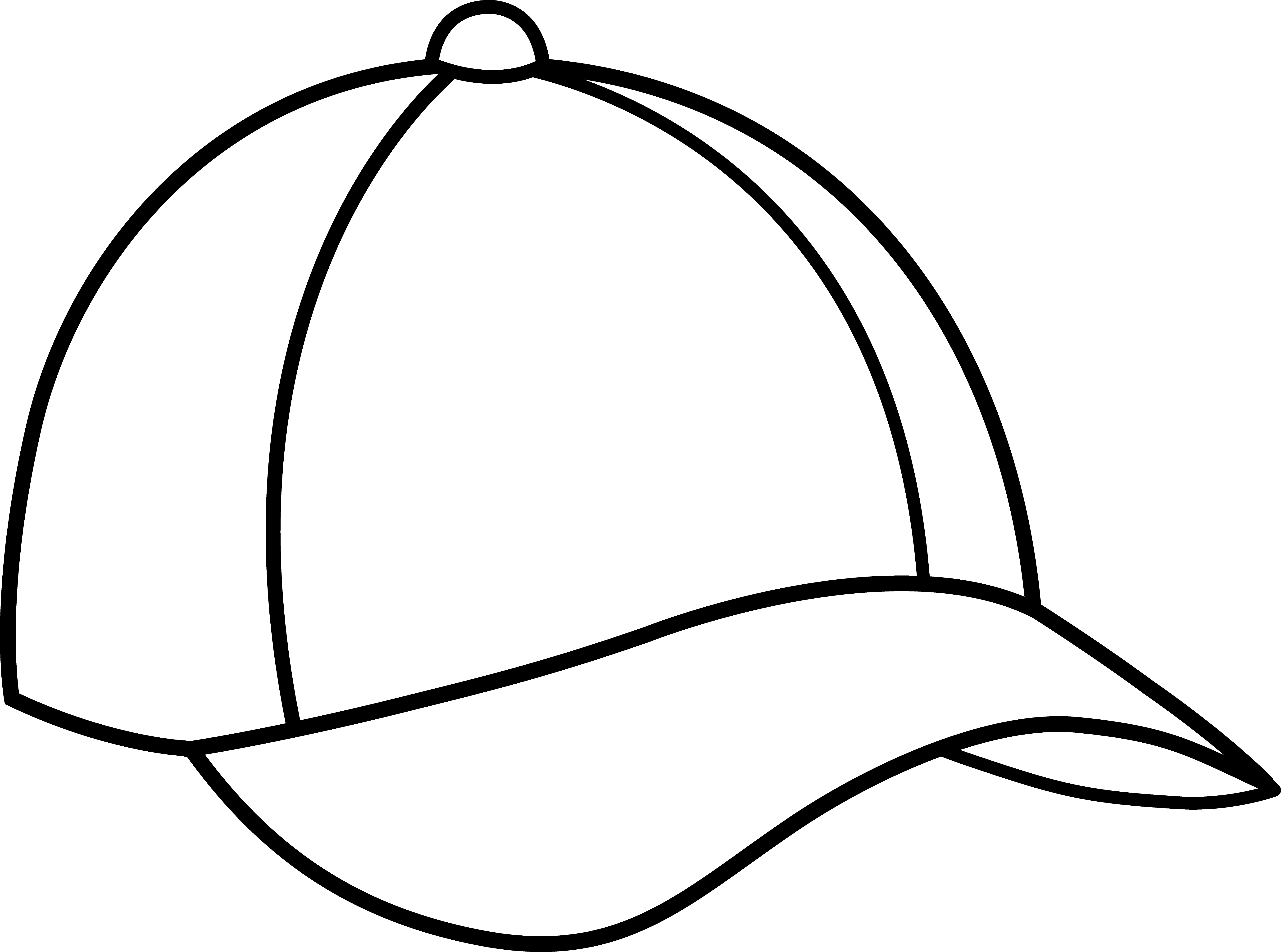clip library library Cap design template line. Baseball clip drawing