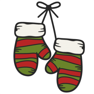 vector Hanging miss kate cuttables. Mittens clipart.