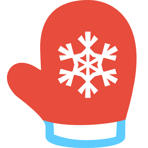 vector freeuse Red christmas . Mittens clipart.
