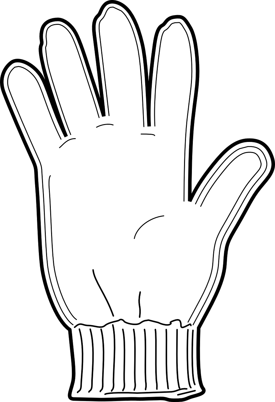 vector library stock Mittens clipart hand glove. Perspective coloring pages of.