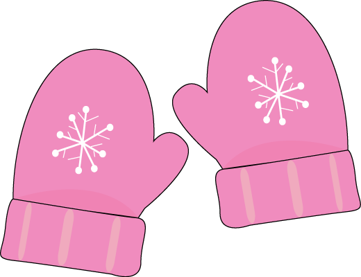 svg free download Cute snowflake pink clip. Mittens clipart wear.