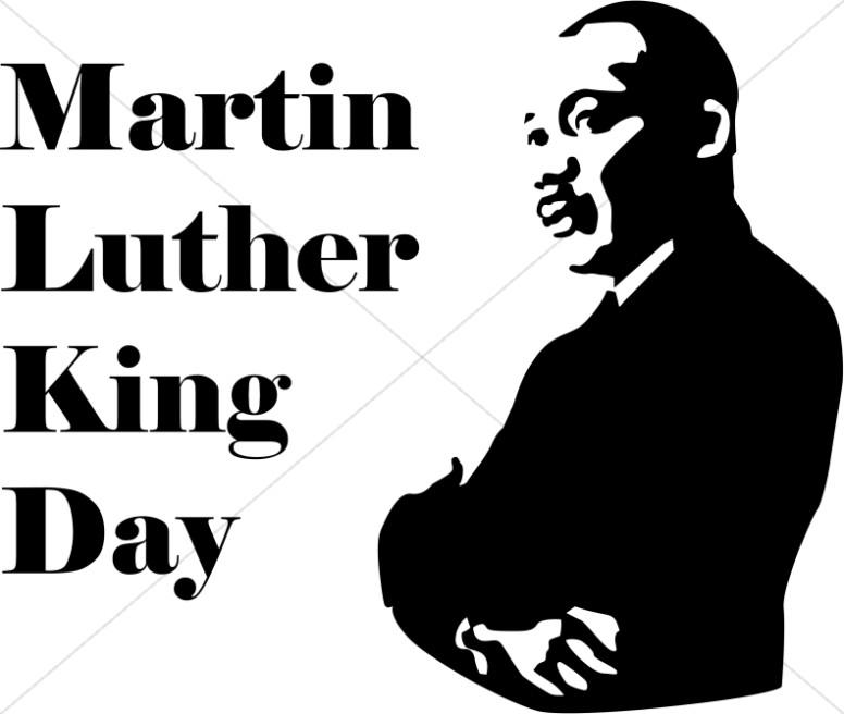 jpg library Mlk clipart illustration. Martin luther king day