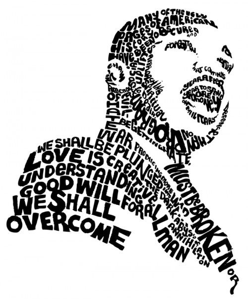 vector library stock Mlk clipart painting. Words week links martin.