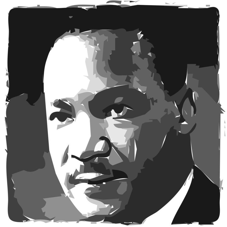 svg library library Martin luther king jr. Mlk clipart portrait.