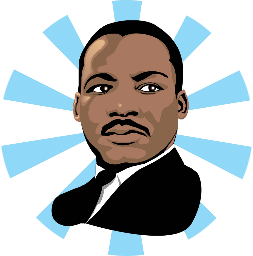 svg black and white Our hero martin luther. Mlk clipart portrait.