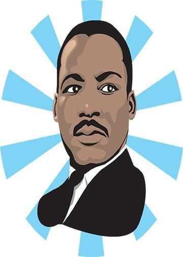 graphic free library Martin luther king products. Mlk clipart portrait.