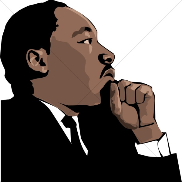 free Martin luther jr clipart. Silhouette of mlk at