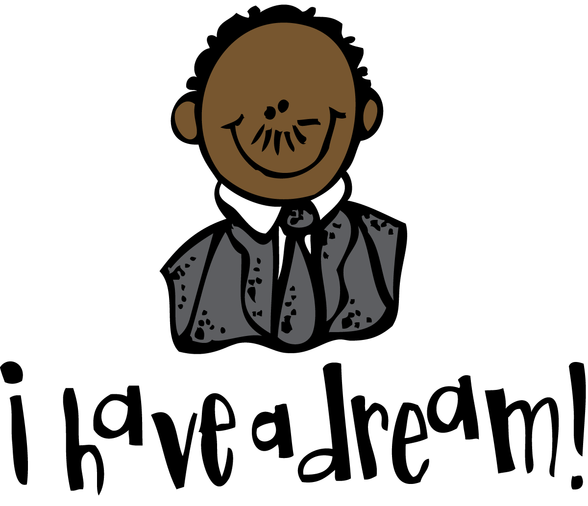 free stock Melonheadz mlk day. Martin luther king clipart