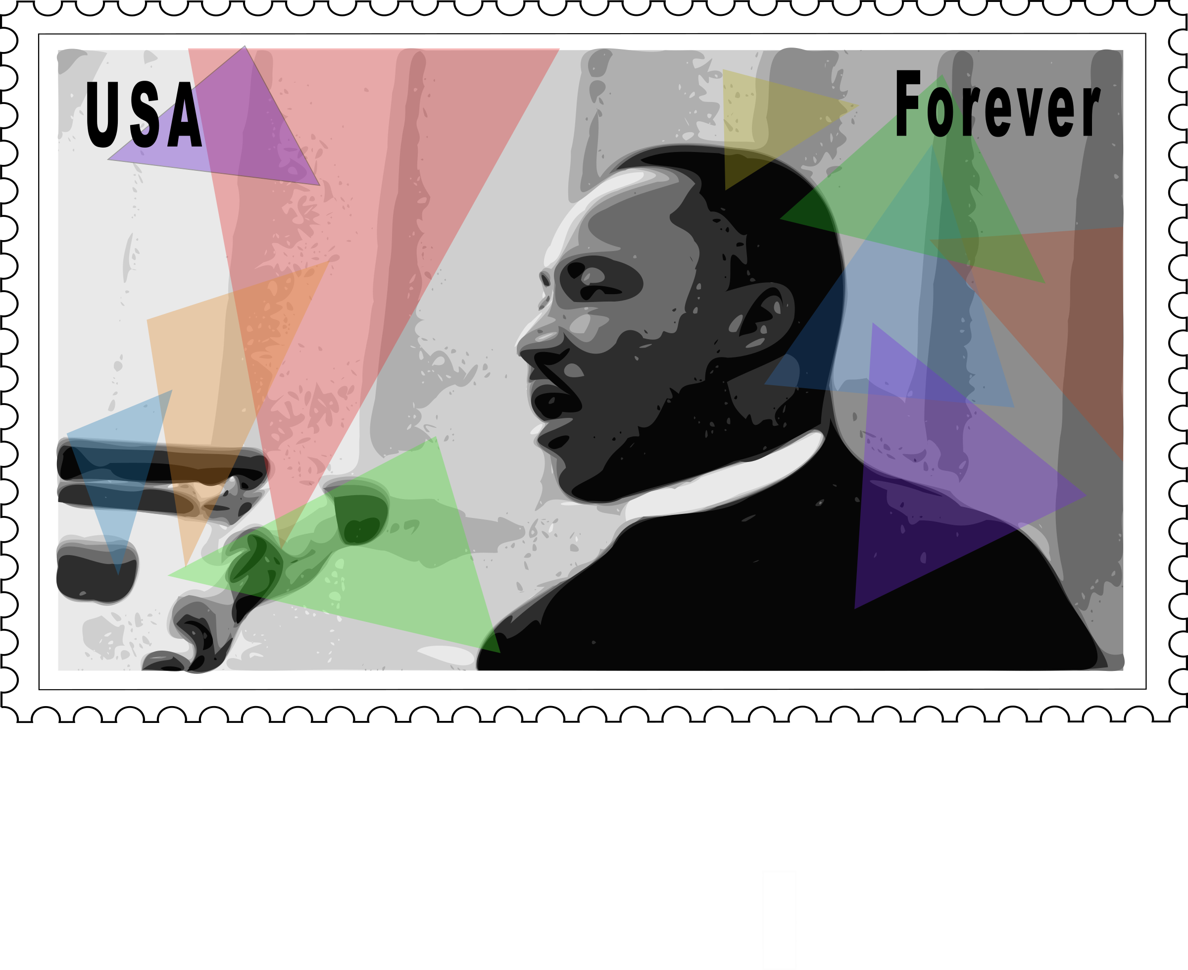 picture free stock Mlk clipart stamp. Martin luther king jr.
