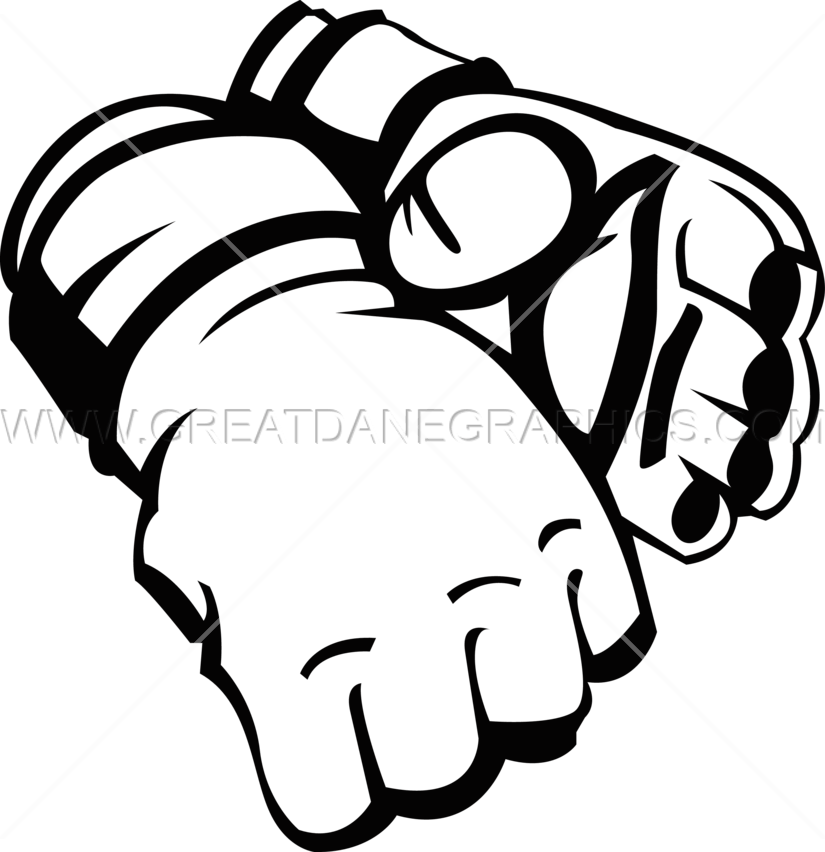png black and white download Fighting clipart mma glove