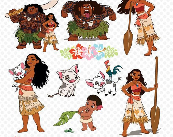 png freeuse library Download clip art on. Moana clipart free