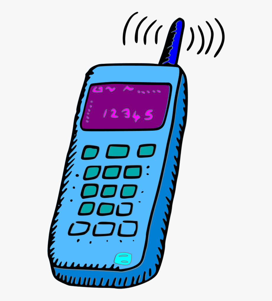 graphic freeuse download Mobile clipart. Analogue phone free .