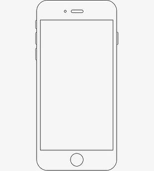 black and white stock Mobile clipart frame. Phone png images free.
