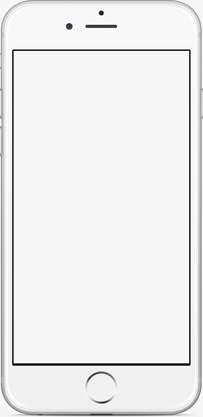 banner royalty free download Phone white png . Mobile clipart frame.