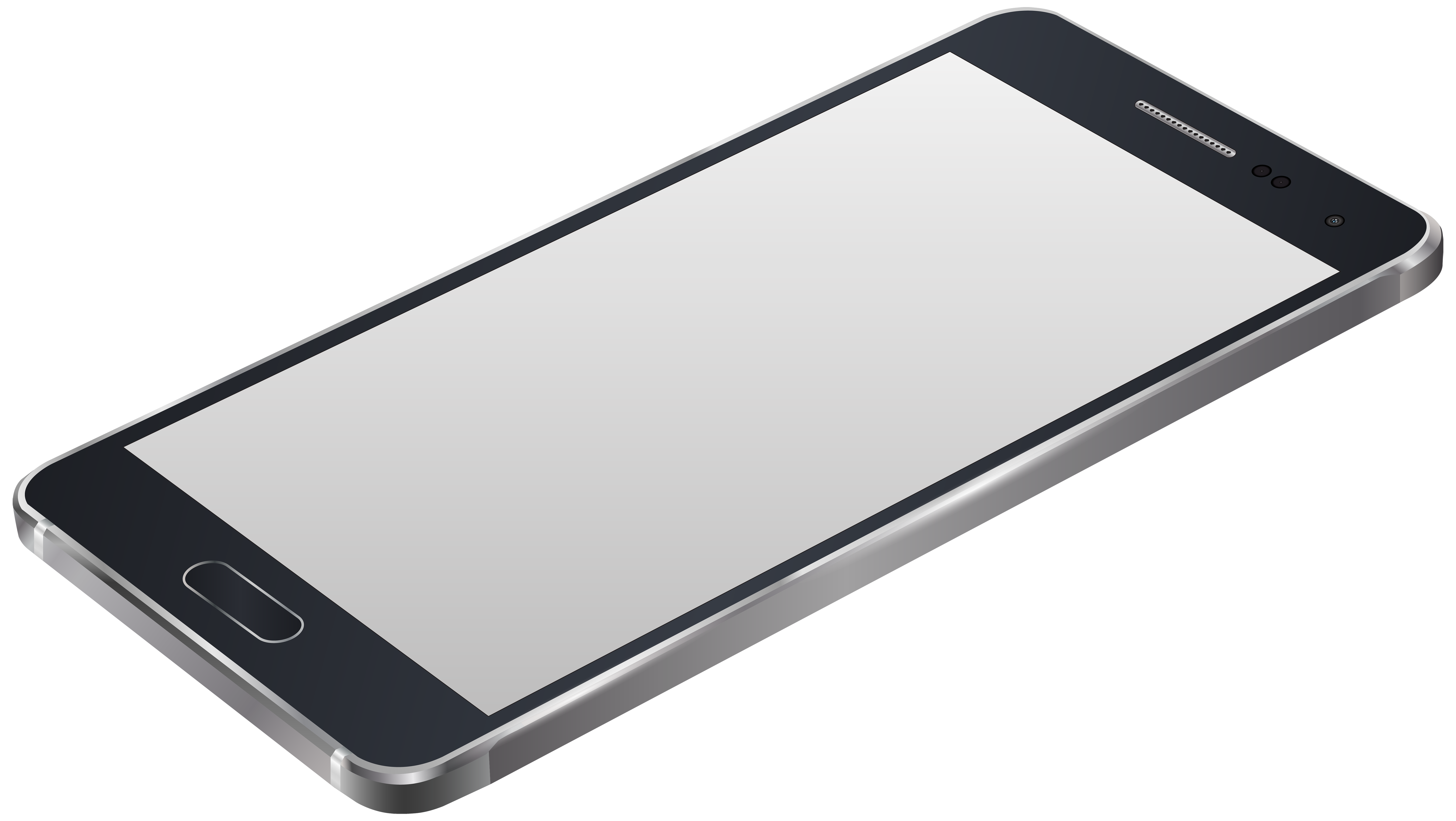 svg black and white Mobile clipart frame. Grey smartphone png clip.