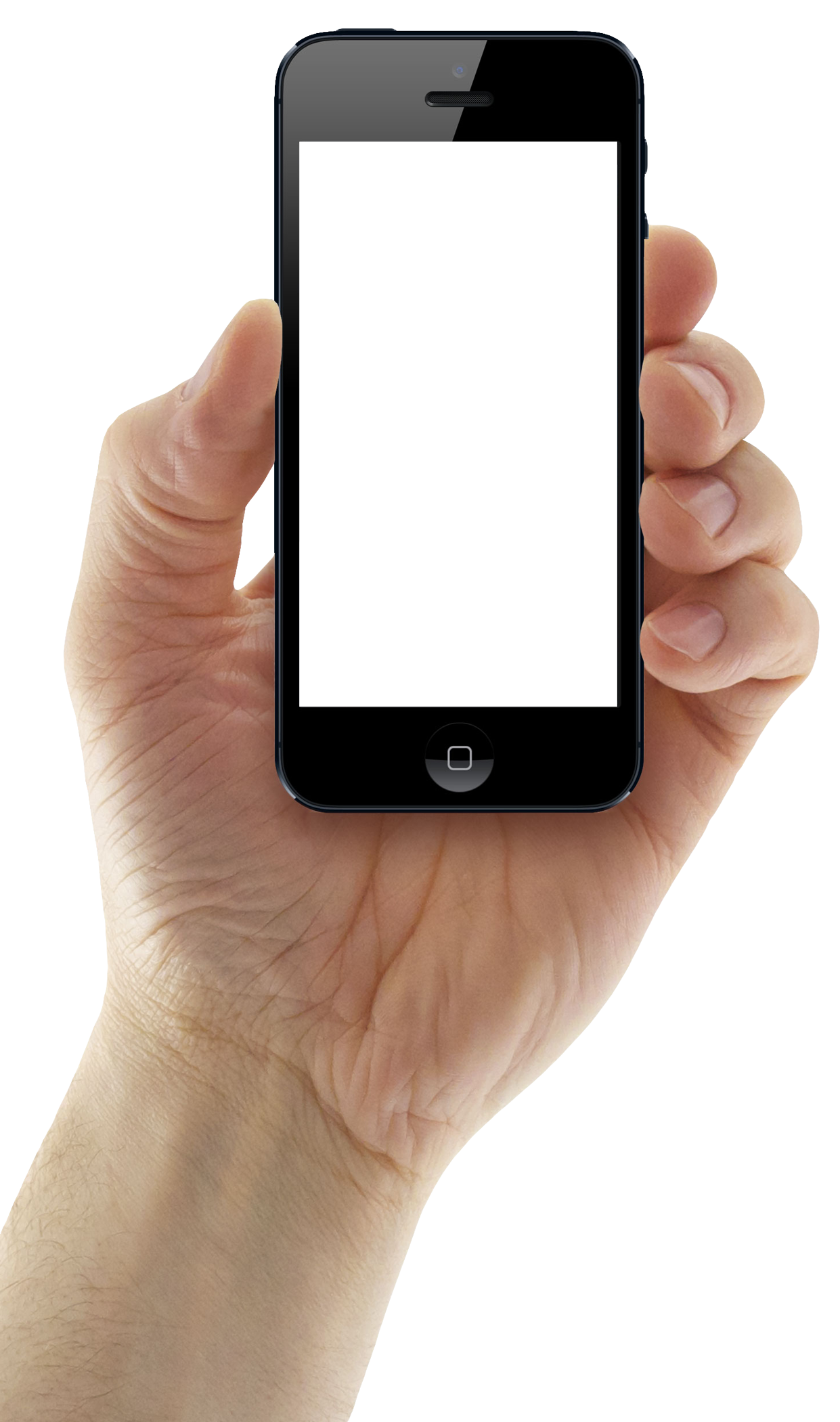 clip free Hand Holding IPhone Mobile Png Image