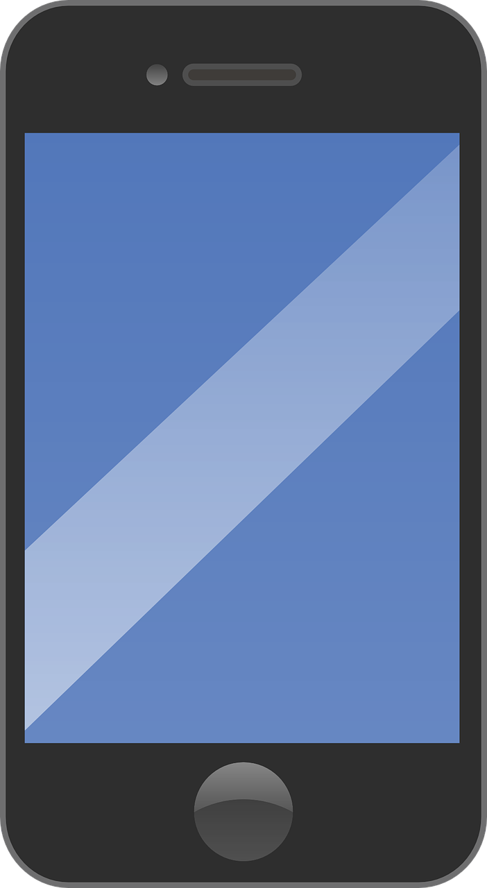 vector royalty free library Cellphone . Mobile clipart simple phone.