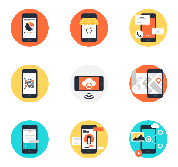 clipart royalty free library Mobile Icons