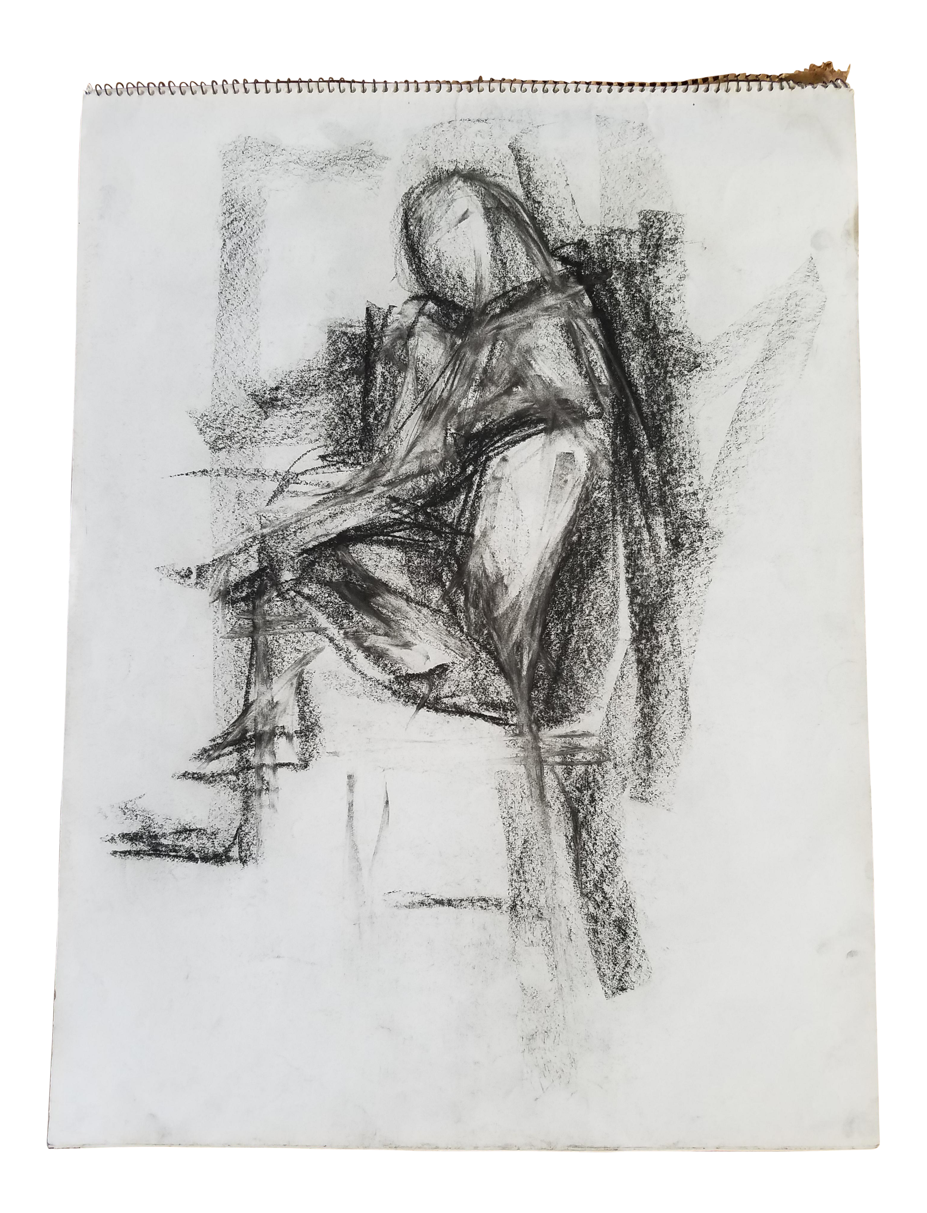 picture free download Drawing charcoal abstract. Sitting figure chairish
