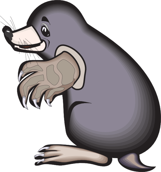 banner freeuse Cartoon clip art at. Mole animal clipart