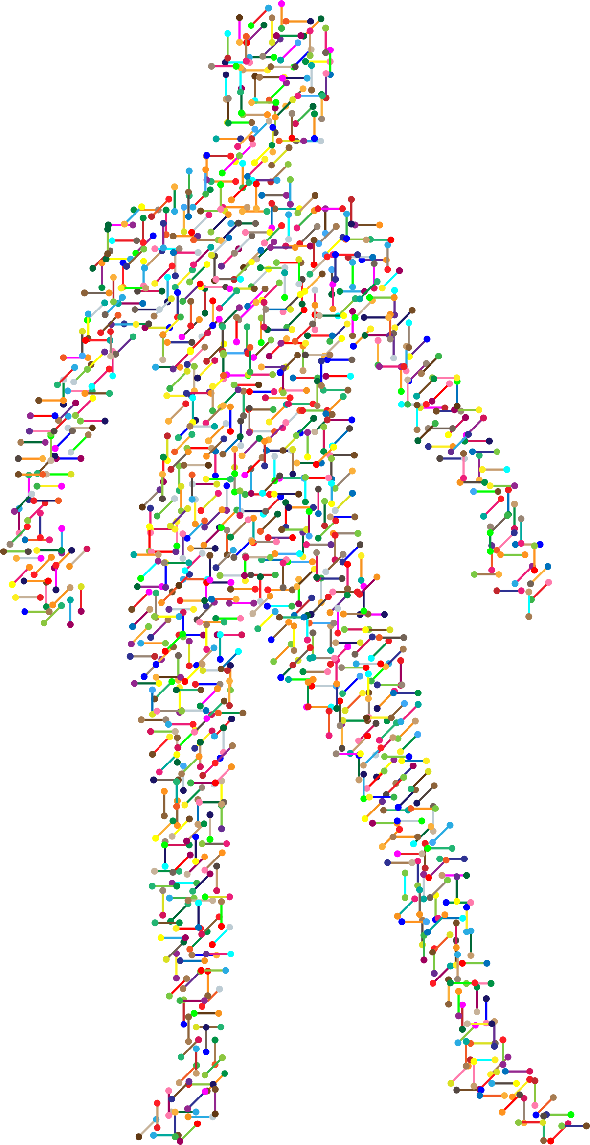 vector royalty free library Prismatic man big image. Molecular biology clipart.