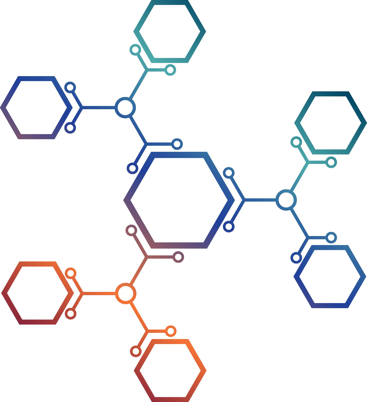 clipart free library Euclidean molecule and hexagonal. Vector buttons hexagon