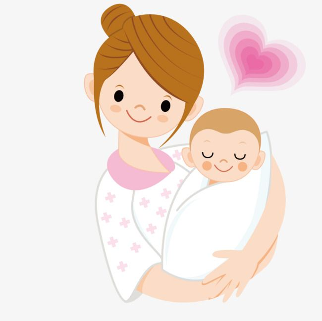 clipart library Mother holding a clipart. Vector baby illustration