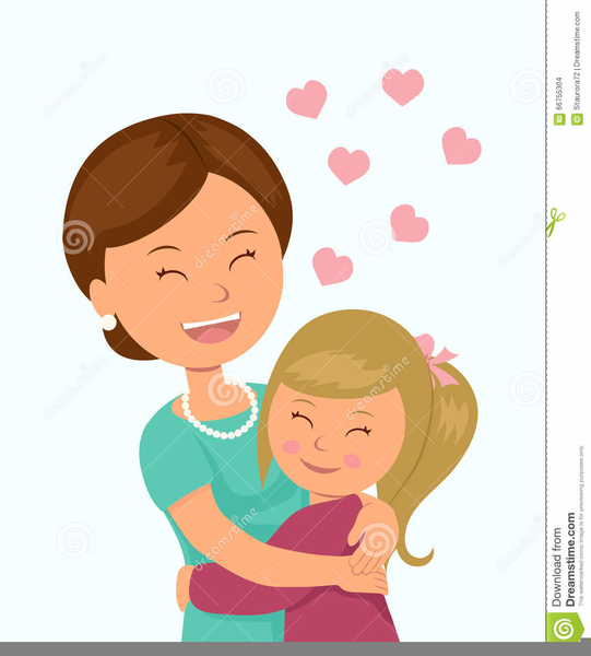 jpg royalty free stock Mom clipart. And daughter hugging free.