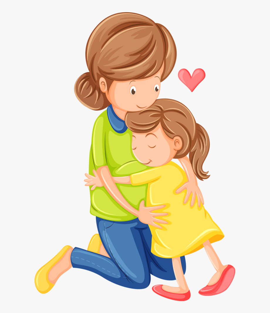 png royalty free library Mom clipart. Family people daughter son.