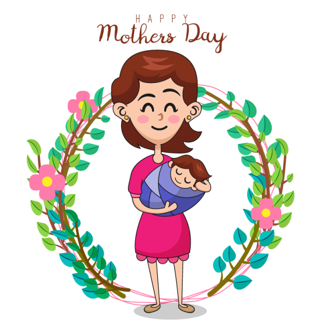 image black and white download Mom vector motherhood. Illustration of mother and